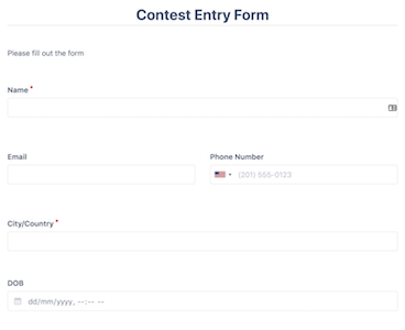 Contest Entry Form