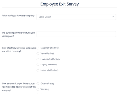 Employee Exit Survey