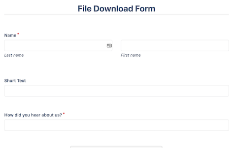File Download Form