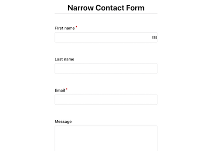 Narrow Contact Form