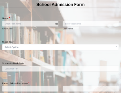 School Admission Form