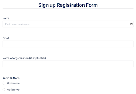 Signup Registration Form